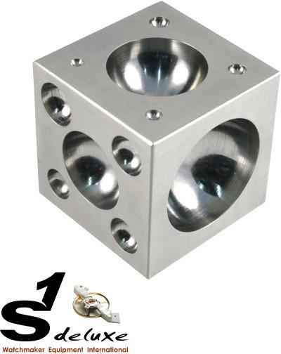 Bottoniera cubica in acciaio 2.0 x 2.0 Inch (5,1 cm)