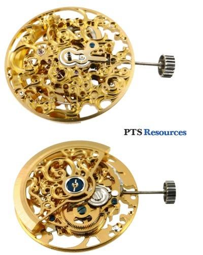 Movimento automatica PTS 2720B SCHELETRATO