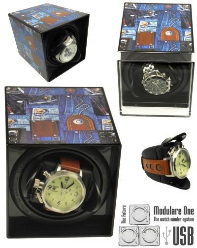 Scatola carica orologi MODULARE ONE USB BLUE JEANS