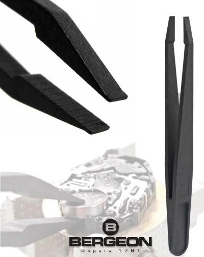 Pinzette BERGEON 93305 in fibra di carbonio per orologiaio