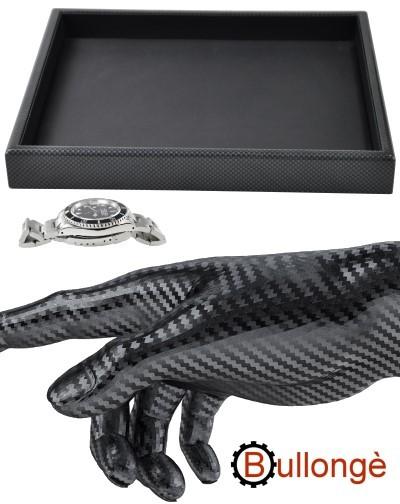 Vassoio di presentazione BULLONGÈ CARBONIO per orologi